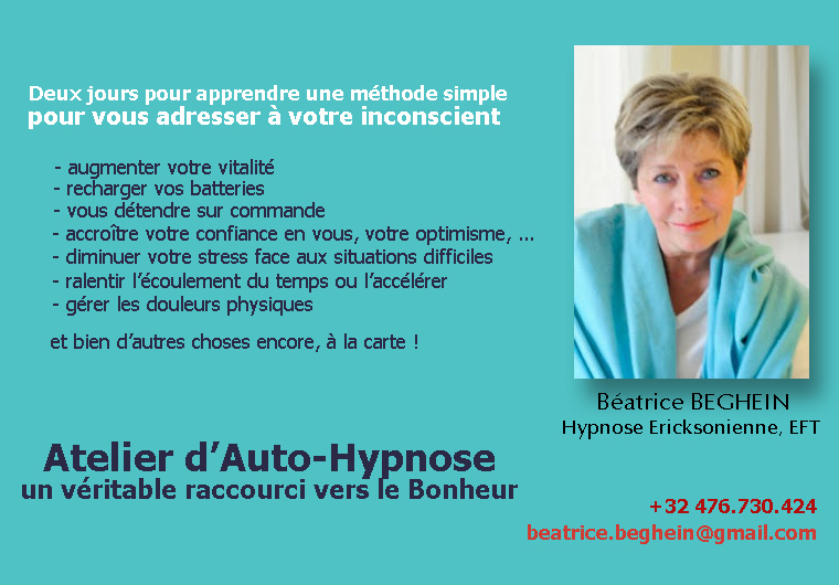 FORMATION D'AUTO-HYPNOSE (2 JOURS)
